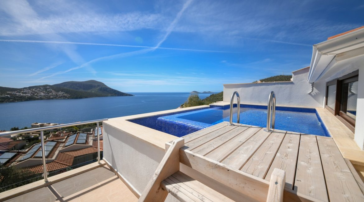 Gorgeous views over Kalkan from the rooftop pool