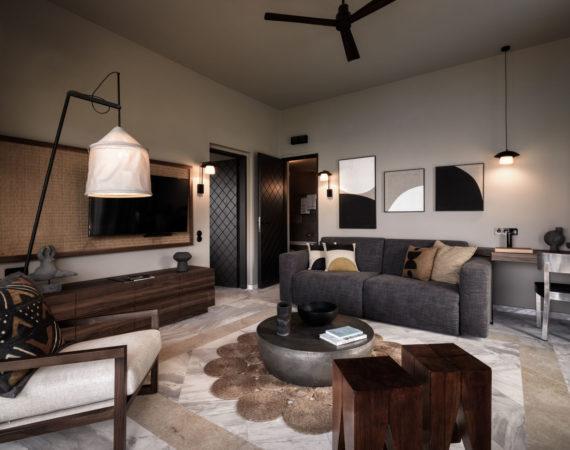Premium Suite Living Room at Domes of Elounda