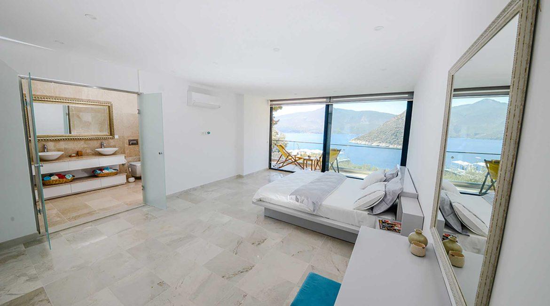 Villa Ozma double bedroom with sea views