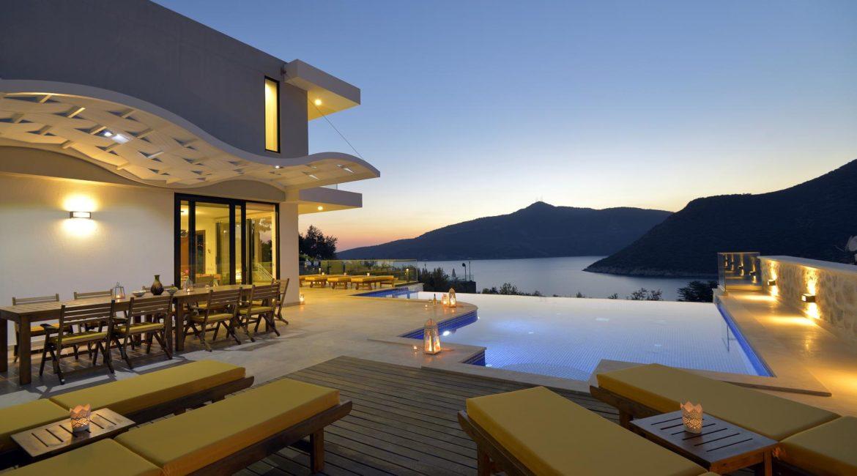 Ozma sun terrace, infinity pool and sea views
