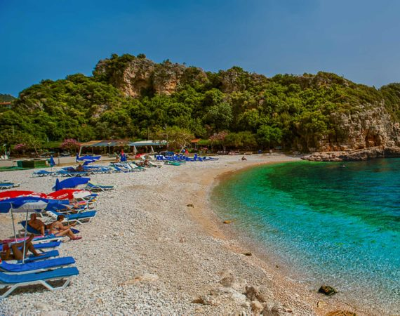 Pebble beach in Kas