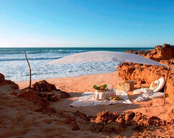 Picnic on the beach at La Sultana Oualidia