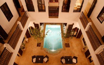 Beautiful shot of Riad Assakina from the terrace