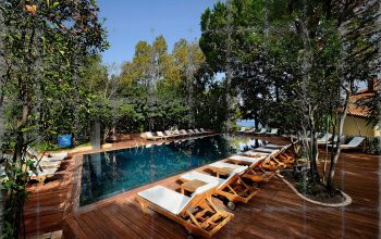 Pool with views at Alberi del Paradiso