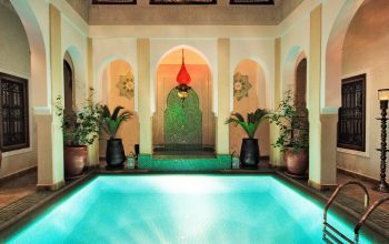 Pool and courtyard at Riad Hikaya