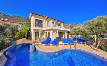 Villa Athena pool and terrace