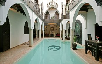 The pool of Riad Opale